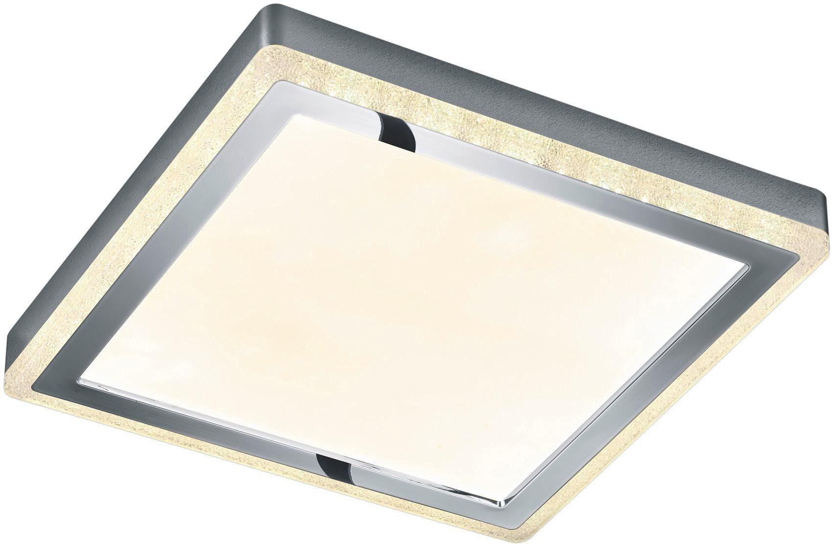 TRIO Leuchten LED Deckenleuchte Slide, LED-Board, Getrennt schaltbar,Fernbedienung,integrierter Dimmer,Nachtlicht,RGBW-Farbwechsler