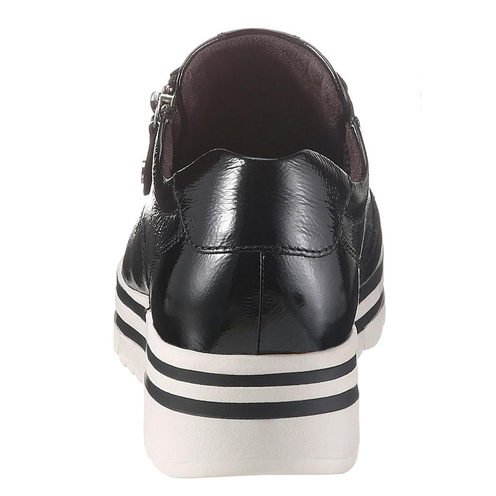Tamaris Wedgesneaker »Pure Relax«, im glänzenden Look