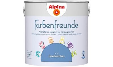 ALPINA Wand -  und Deckenfarbe »Farbenfreunde«, Seebärblau 2,5 l kaufen