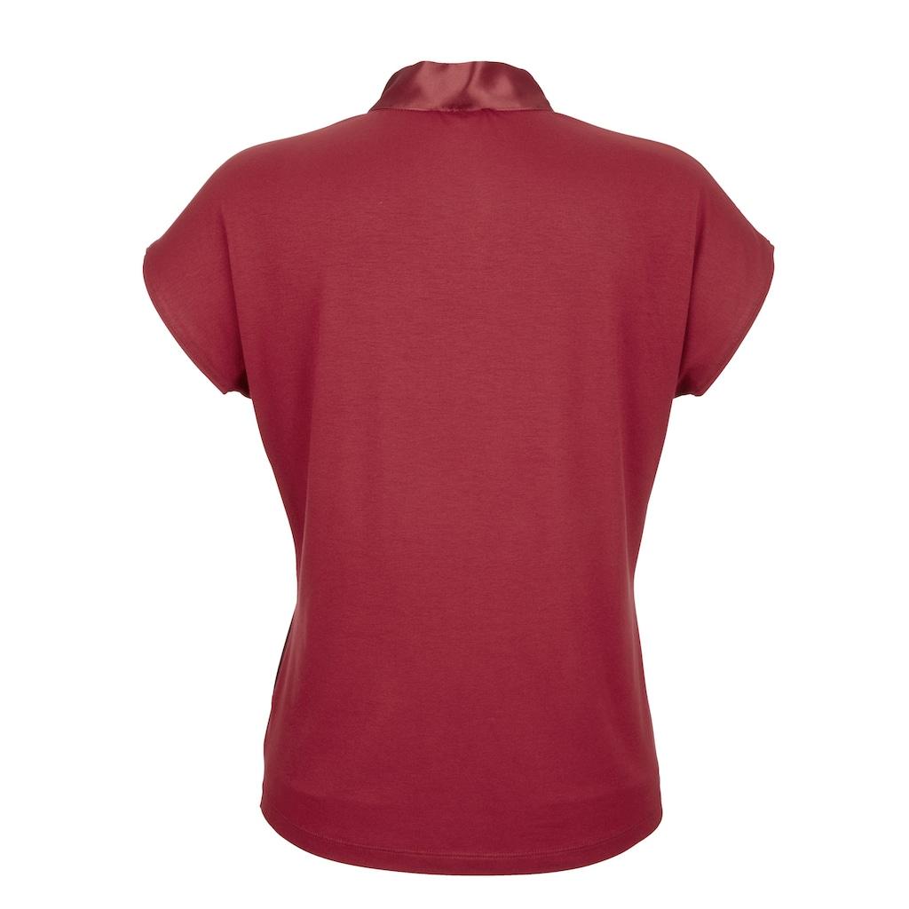 Alba Moda Blusenshirt, aus reiner Seide im Vorderteil