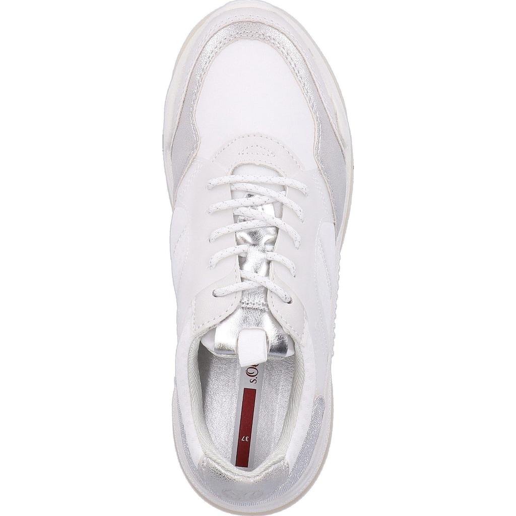 s.Oliver Sneaker »Lederimitat/Textil«