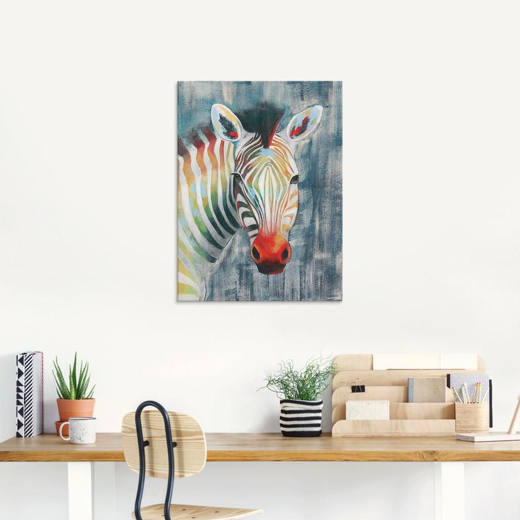 Artland Glasbild »Prisma Zebra I«, Wildtiere, (1 St.)