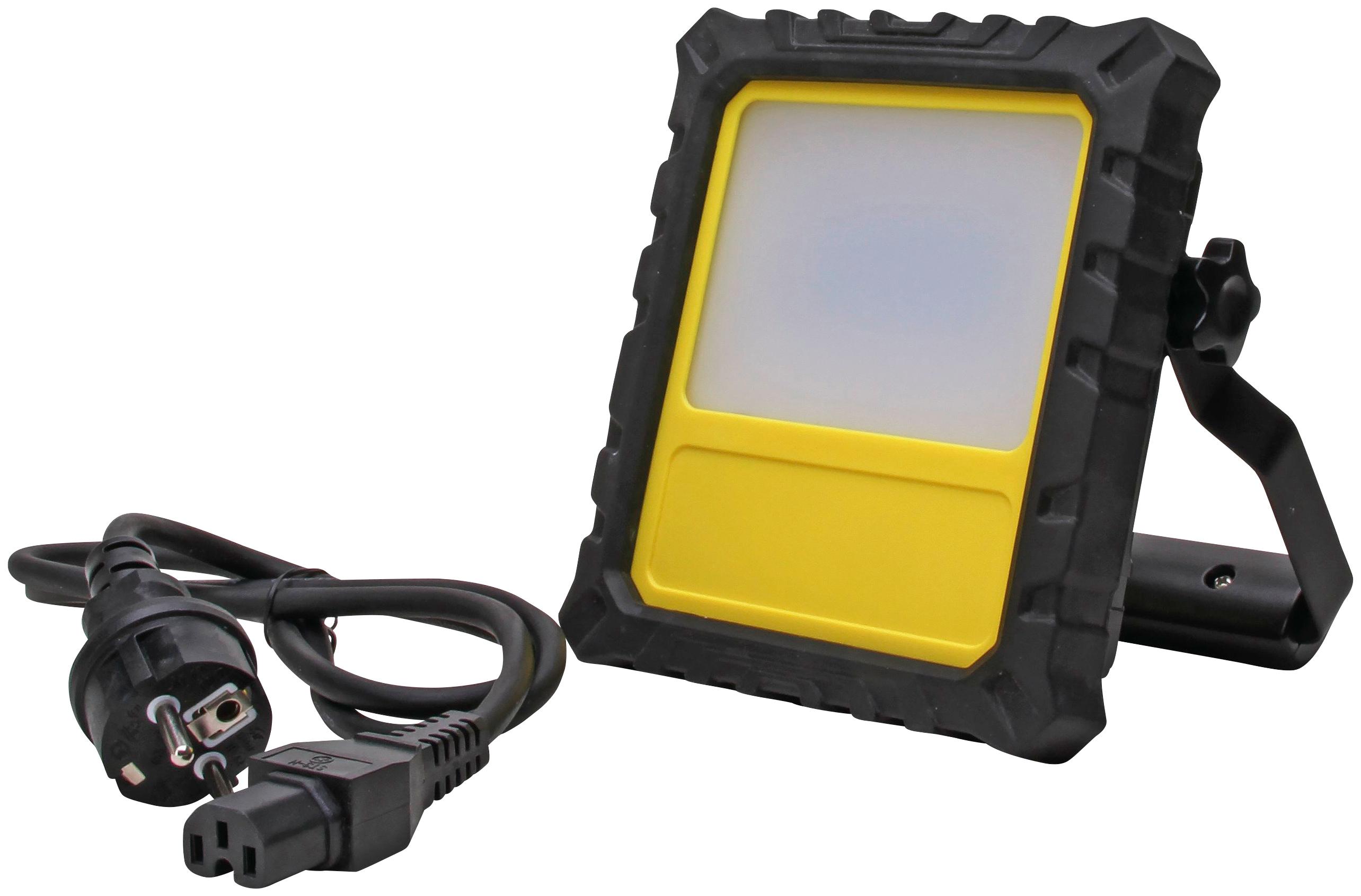 KOPP Flutlichtstrahler 20 Watt Akku LED-Strahler IP54 mit 4 Leuchtmodi