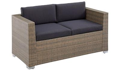 MERXX Gartenbank »Bellante«, (2 St.), Stahlgestell, mit Sitz- und Rückenkissen kaufen