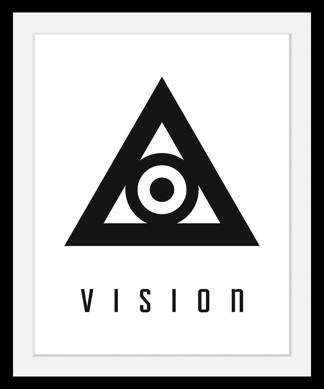 Bild mit Rahmen »Vision« in 3 Größen | Dekoration > Bilder und Rahmen > Bilder | Schwarz