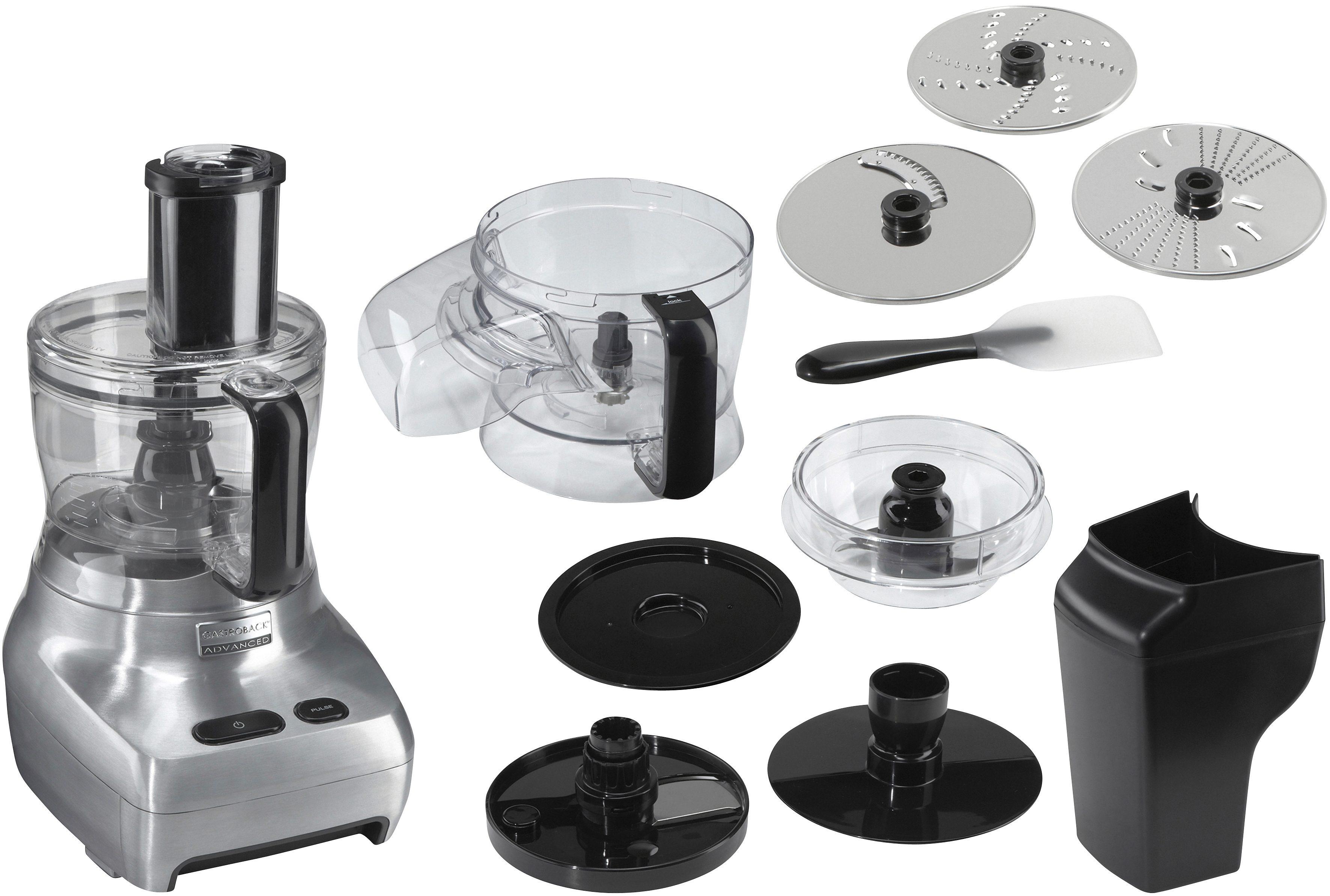 Gastroback Kompakt-Küchenmaschine Design Food Processor Advanced 40965 silberfarben Küchenmaschinen SOFORT LIEFERBARE Haushaltsgeräte