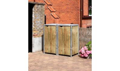 HIDE Mülltonnenbox für 2 x 120 l, natur kaufen