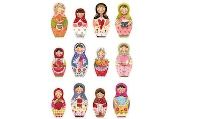 Wall-Art Wandtattoo »Matroschka Bunte Blumen Familie« kaufen