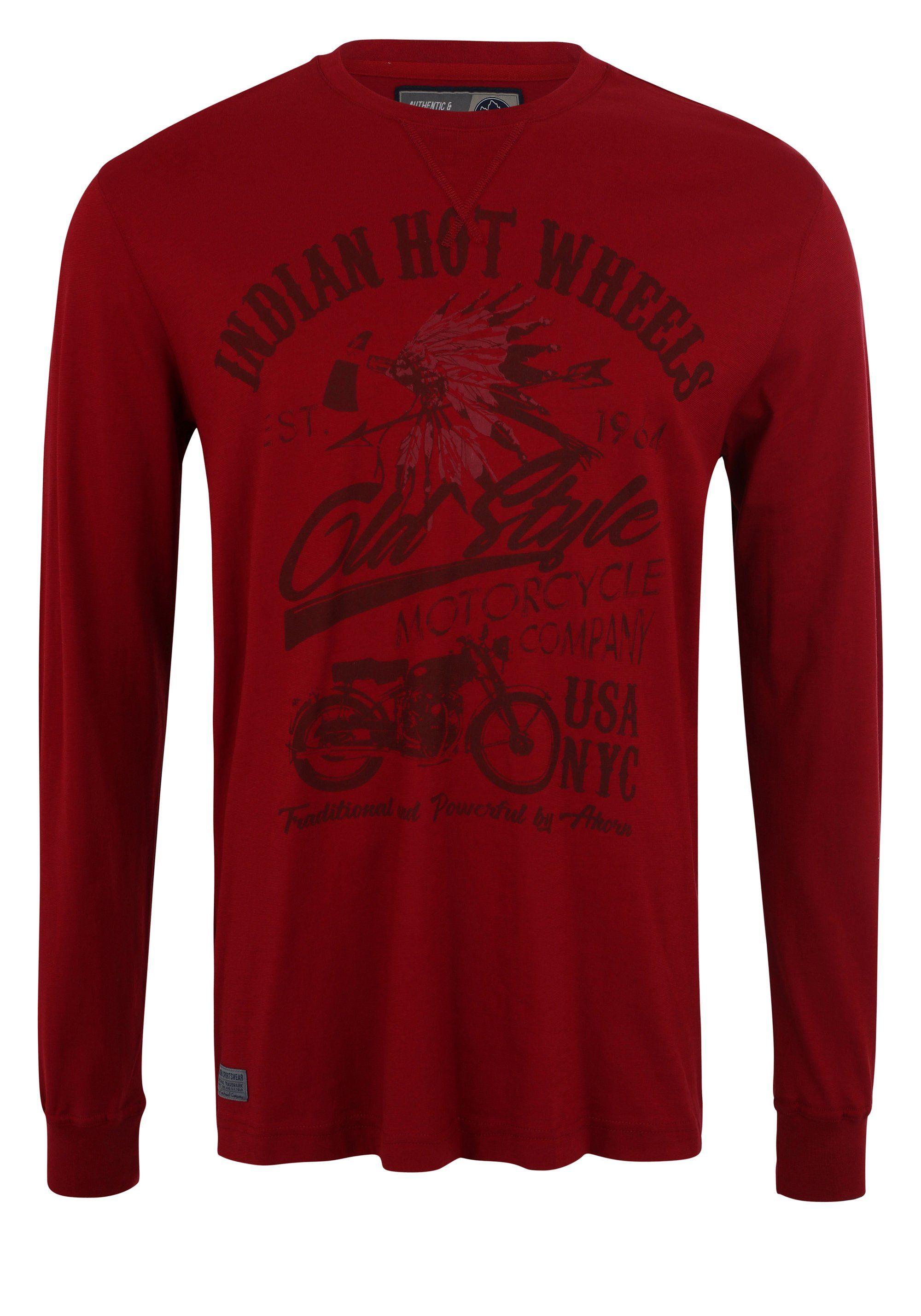 ahorn sportswear -  Langarmshirt mit coolem Print