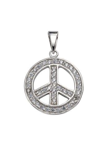 Vivance Anhänger »925/ -  Sterling Silber Zirkonia Peace« kaufen