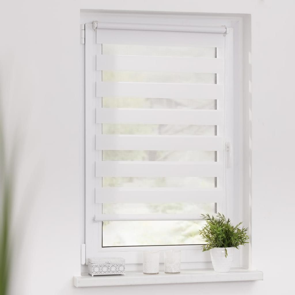 LICHTBLICK ORIGINAL Doppelrollo »Duo Rollo Klemmfix, ohne Bohren, verspannt«, halbtransparent, verspannt, Einfache Klemm-Montage ohne Bohren. Für Fenster & Türen geeignet.