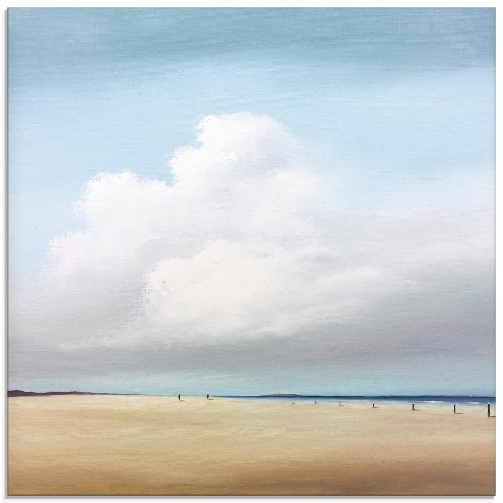 Artland Glasbild »Spaziergang II«, Strand, (1 St.)