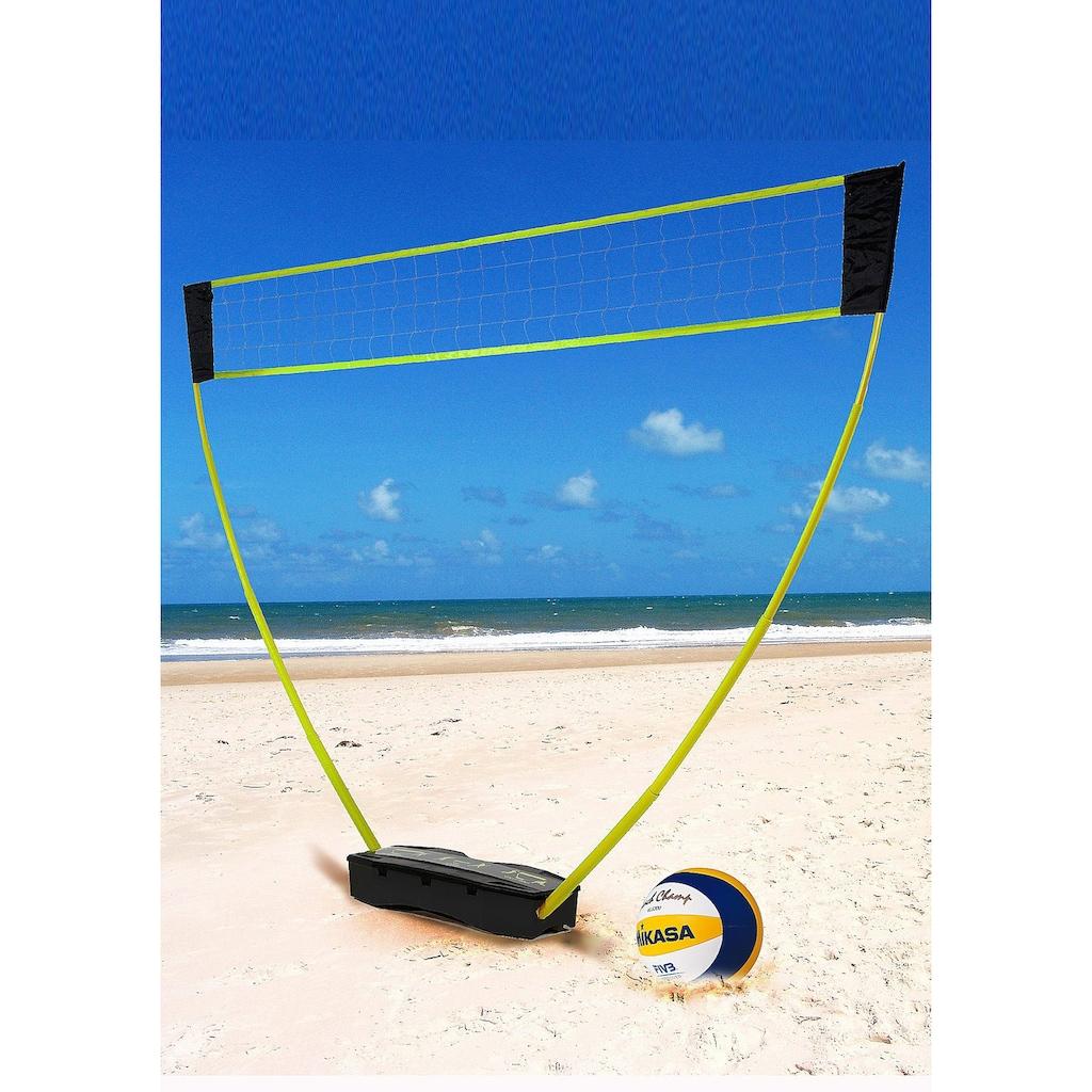Hammer Tennisnetz, (Tragekoffer, Netze, Teleskop Netzpfosten, Bodenanker), 3in1 Netz-Set für Badminton, Tennis und Volleyball