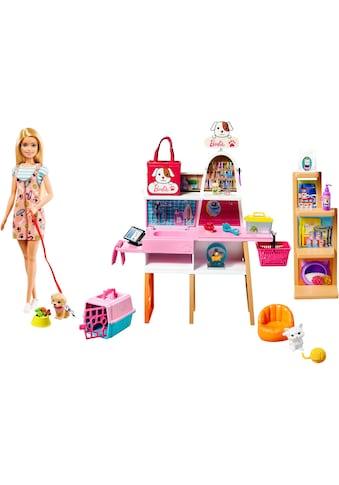 Barbie Anziehpuppe »Haustiersalon Spielset und Puppe«, (Set, 20 tlg., inkl. 4 Haustiere) kaufen