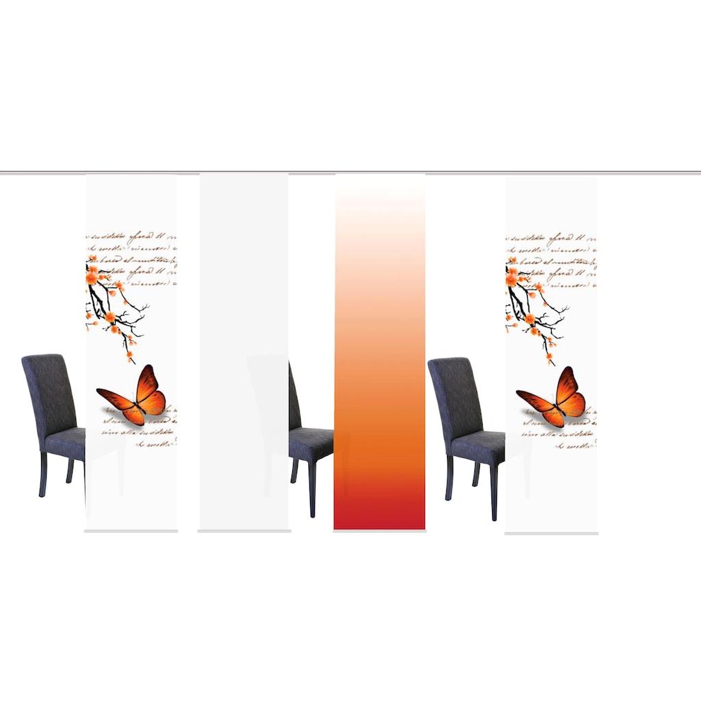 HOME WOHNIDEEN Schiebegardine »BUTTERFLIES«, HxB: 245x60, inkl. Befestigungszubehör