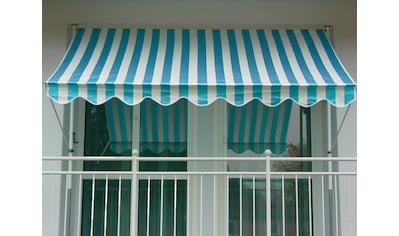 Angerer Freizeitmöbel Klemmmarkise, blau/weiß, Ausfall: 150 cm, versch. Breiten kaufen