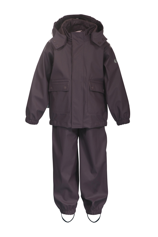 Ticket to Heaven Regenanzug, 2tlg. Regenanzug mit abnehmbarer Kapuze grau Kinder Regenanzüge Regenbekleidung Jungenkleidung