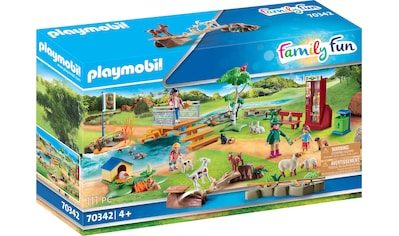Playmobil® Konstruktions-Spielset »Erlebnis-Streichelzoo (70342), Family Fun«, ; Made in Germany kaufen