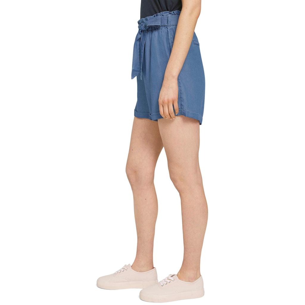 TOM TAILOR Denim Shorts, mit Bindegürtel