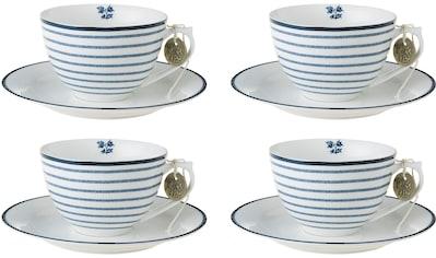 LAURA ASHLEY BLUEPRINT COLLECTABLES Cappuccinotasse »Candy Stripe«, (Set, 8 tlg., 4... kaufen