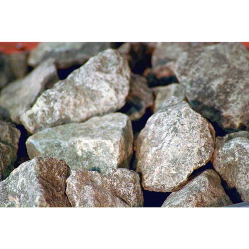 Karibu Saunaofen, mit Steinen