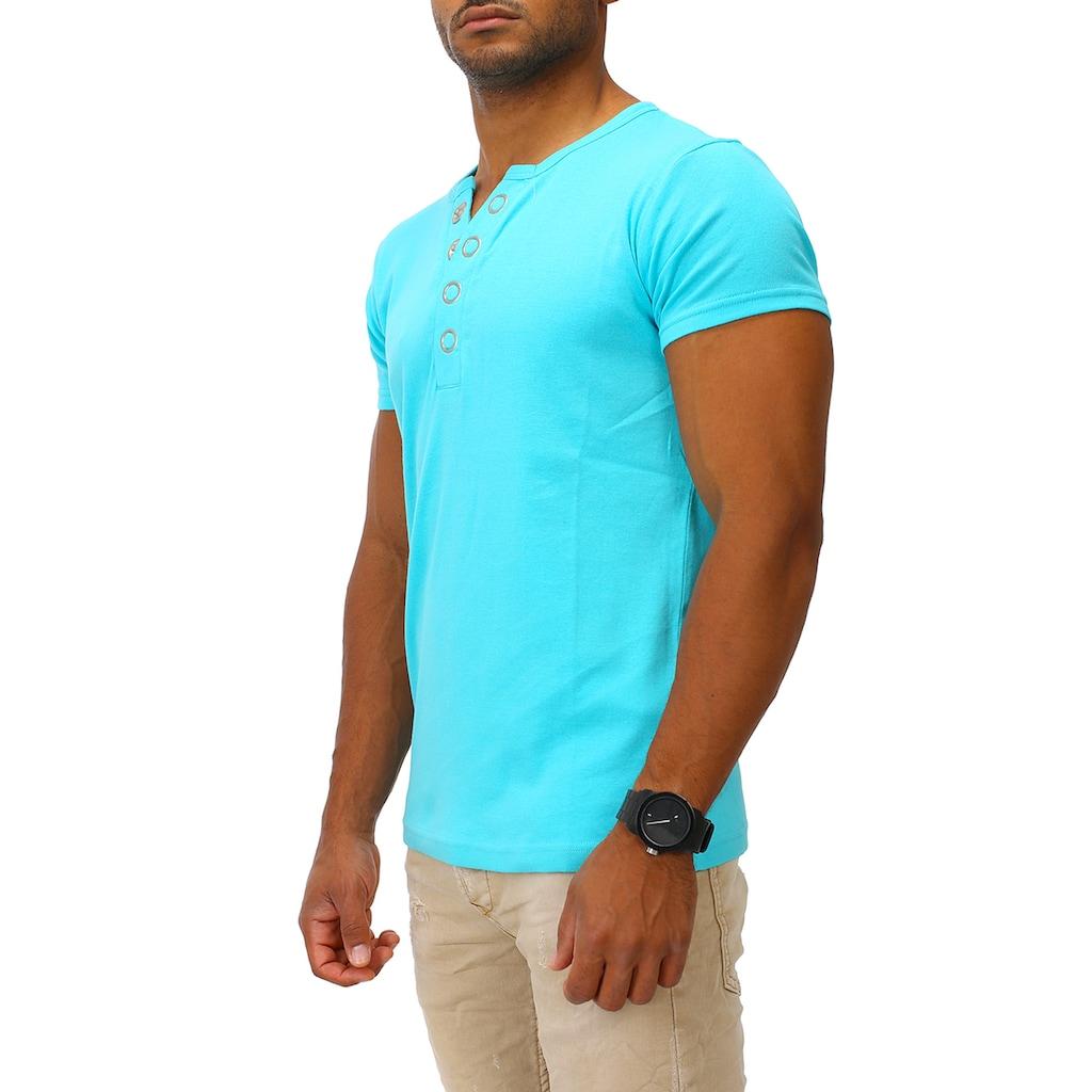 Joe Franks T-Shirt »Big Button«, in stylischem Slim Fit