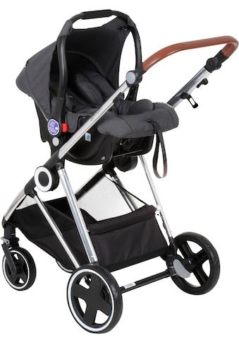 BabyGo Kombi-Kinderwagen »Halime 3in1, Grey Silver«, mit flexiblen Schwenkrädern,... kaufen