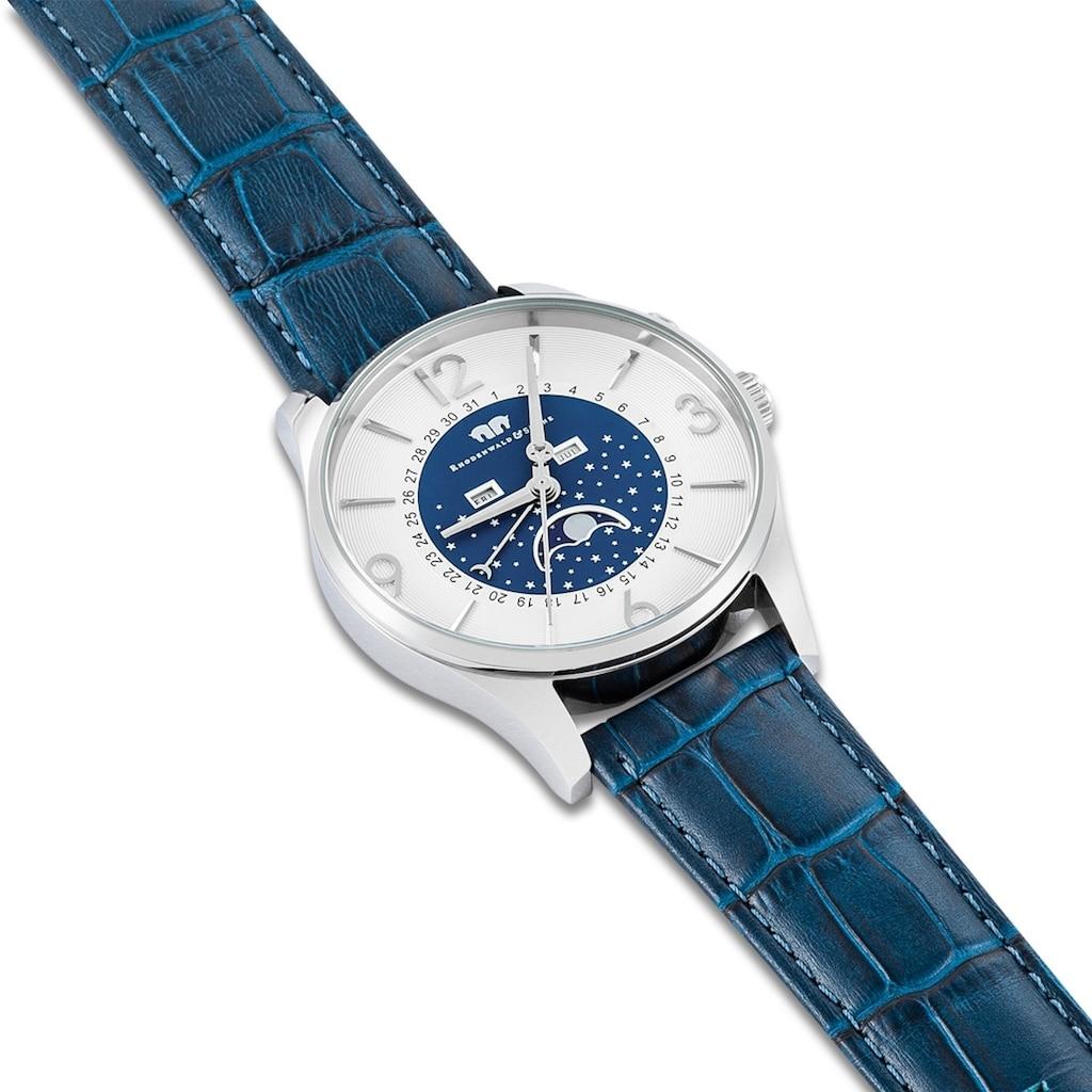 Rhodenwald & Söhne Quarzuhr »RWS007«, (1 tlg.), Armband aus Echtleder