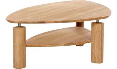 Premium collection by Home affaire Couchtisch »Elias«, in dreieckiger Form aus Massivholz kaufen