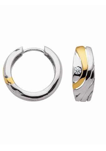 Adelia´s Paar Creolen »925 Silber Ohrringe / Creolen mit Zirkonia Ø 16,9 mm«,... kaufen