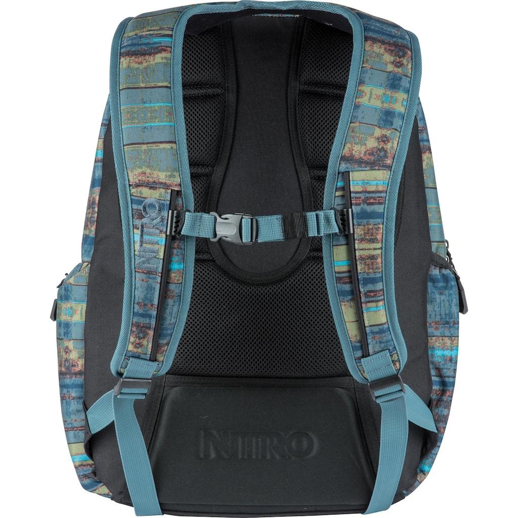 NITRO Schulrucksack »Hero, Frequency Blue«, mit Laptopfach