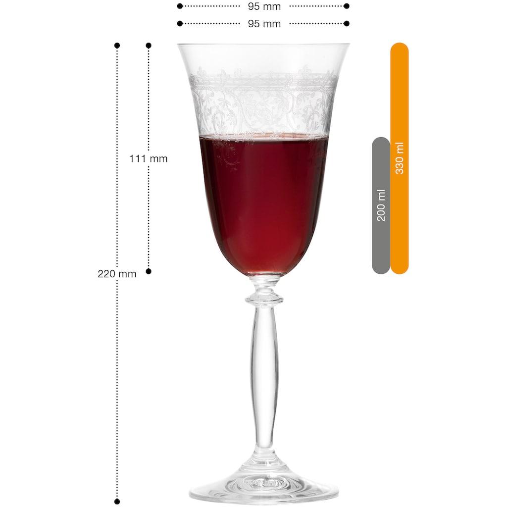 montana-Glas Rotweinglas »avalon«, (Set, 6 tlg.), 6-teilig