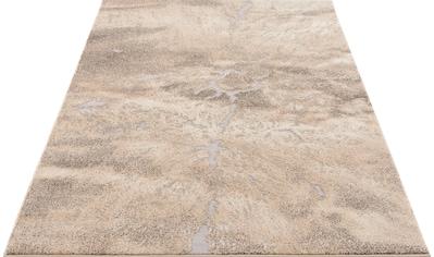 my home Teppich »Marmor«, rechteckig, 12 mm Höhe, Marmor-Optik, Wohnzimmer kaufen
