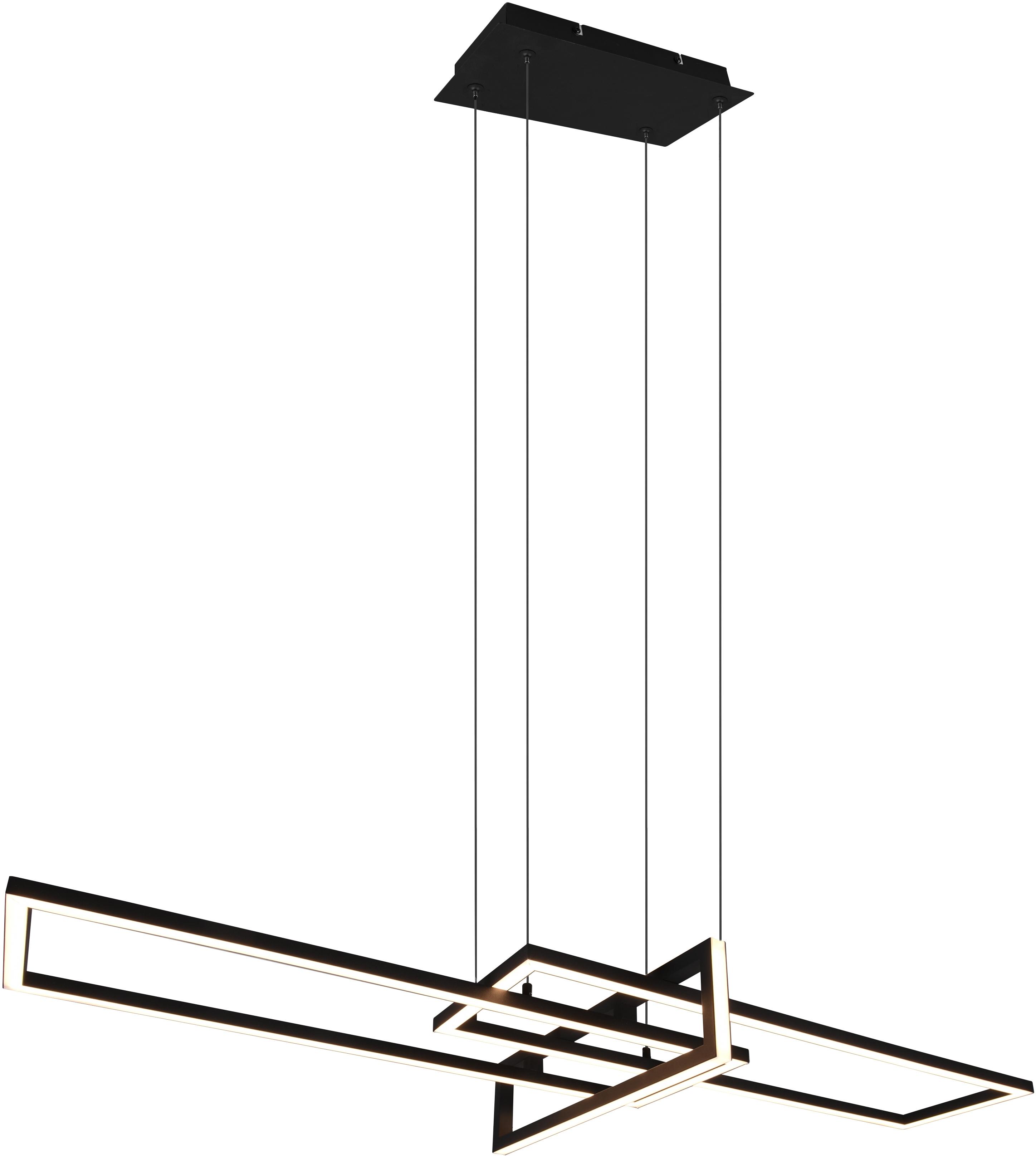 TRIO Leuchten LED Pendelleuchte ALICA, Pendelleuchte, Hängelampe, LED-Modul, 1 St., Warmweiß, mit Switch Dimmer, über Wandschalter dimmbar, Abhängung 150 cm, 3000K, 4200 Lm
