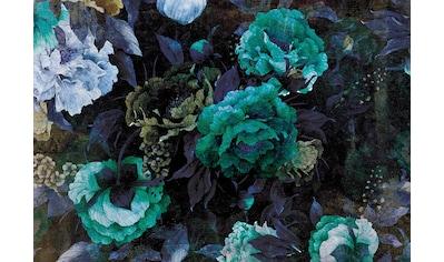 CONSALNET Vliestapete »Grüner Blumen Mix«, in verschiedenen Größen kaufen