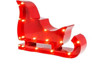 MARQUEE LIGHTS LED Dekolicht »Weihnachtsschlitten«, 1 St., Warmweiß, Wandlampe, Tischlampe Christmas Sled mit 14 festverbauten LEDs - 23cm Breit und 17cm hoch kaufen