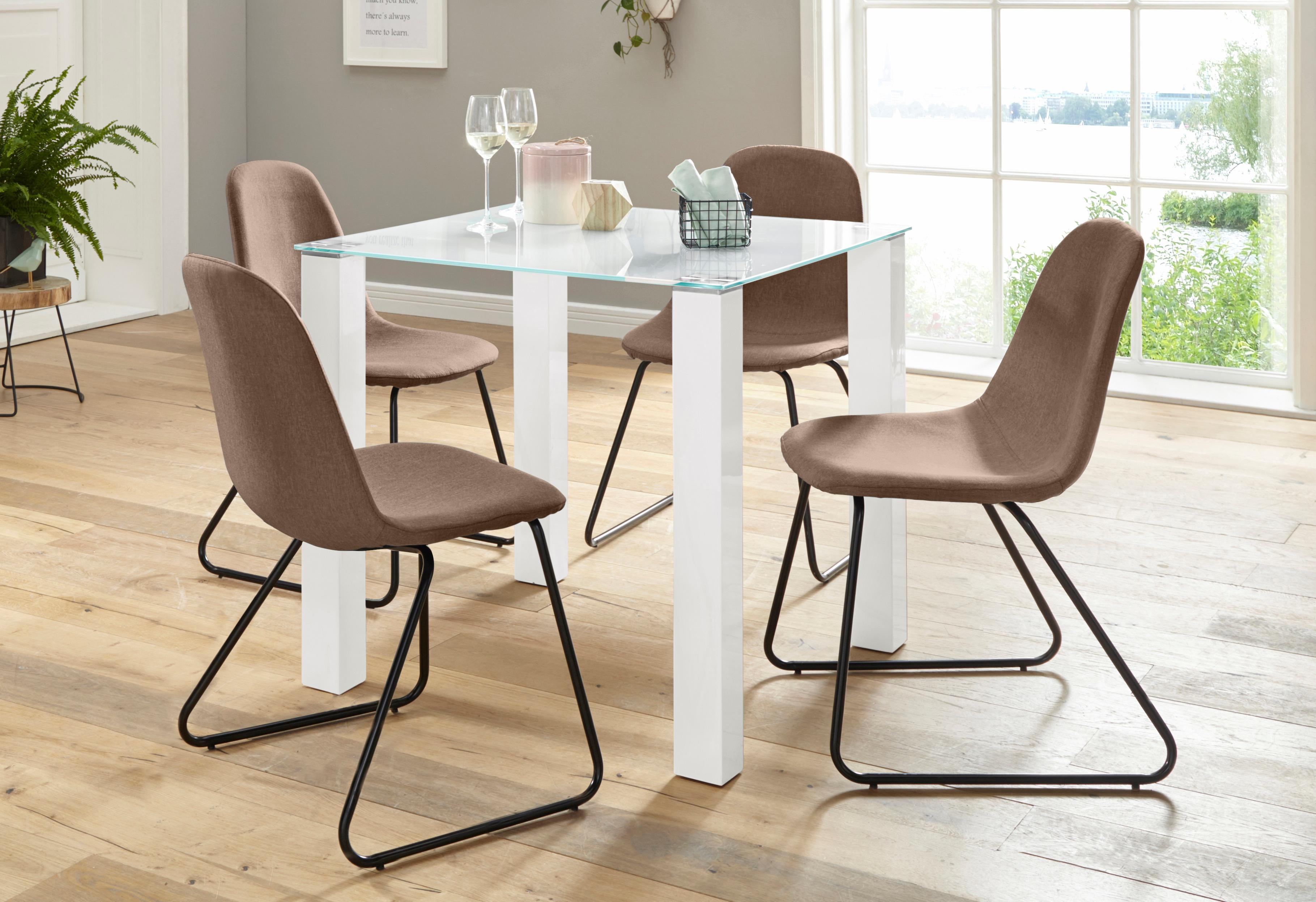 Essgruppe (Set, 5-tlg) beige Essgruppen Tische Sitzmöbel-Sets