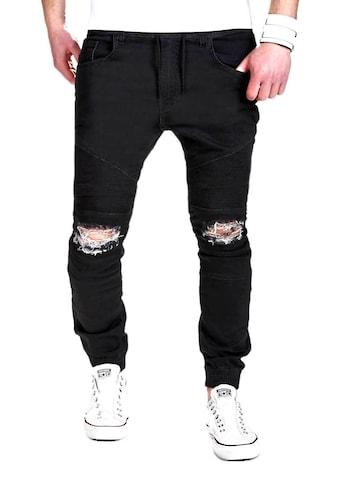 behype Slim-fit-Jeans »BIJAC«, mit Destroyed-Elementen kaufen