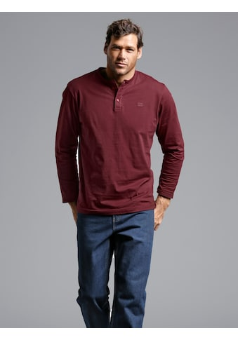 Men Plus by HAPPYsize Henleyshirt mit Knopfleiste kaufen