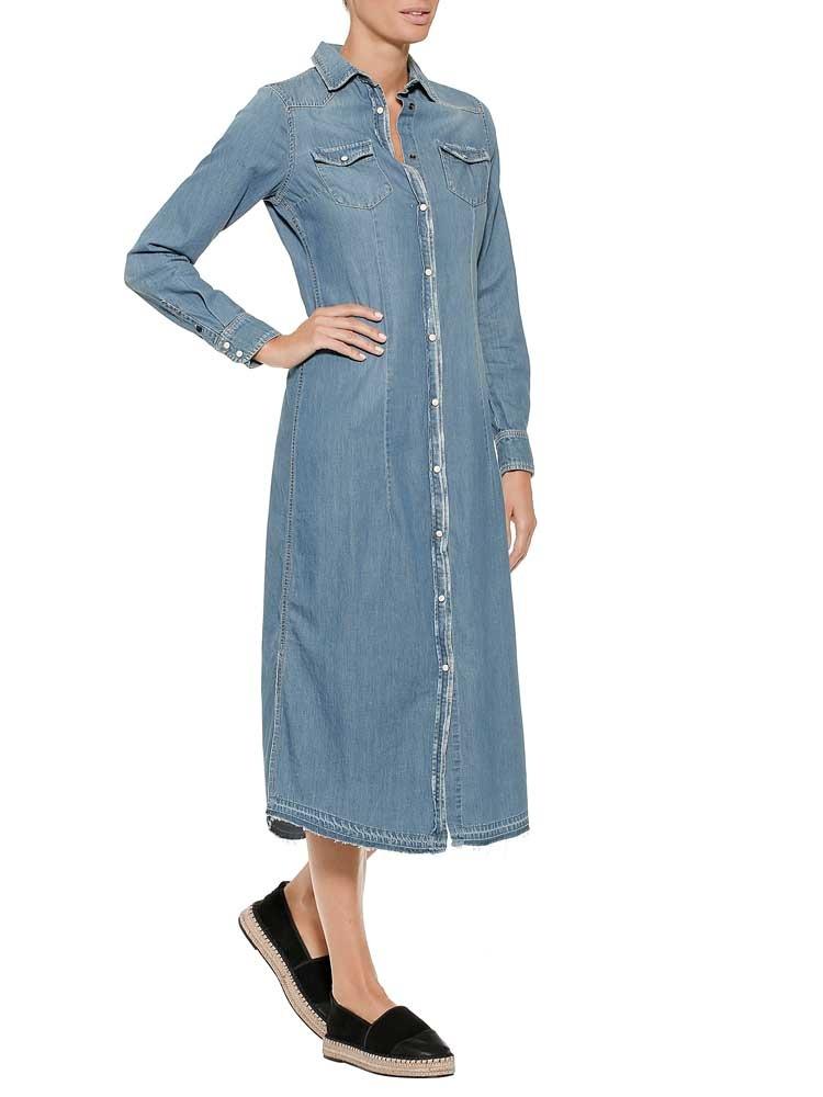 herrlicher -  Jeanskleid, mit Druckknöpfen