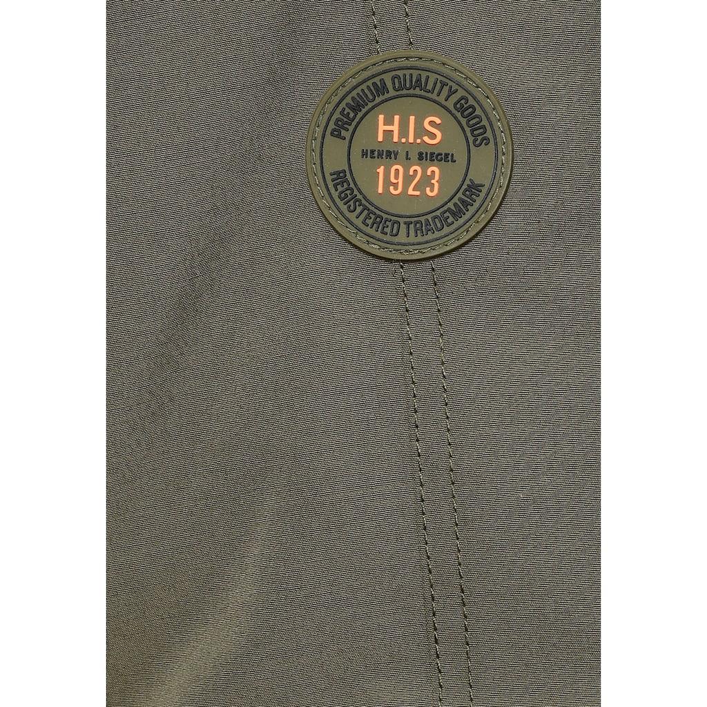 H.I.S Blouson, kontrastfarbiger Gummizug an der Kapuze