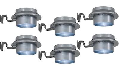 näve LED Dachrinnenleuchte »LED Solar Leuchten - 6er Set«, LED-Board, Tageslichtweiß, Wetterfest kaufen