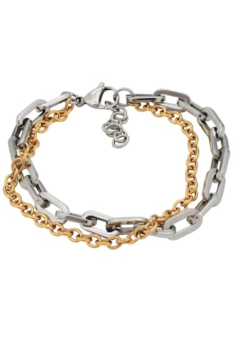 Firetti Armband »glanzvolles Design, Bicolor, massiv«, Made in Germany kaufen
