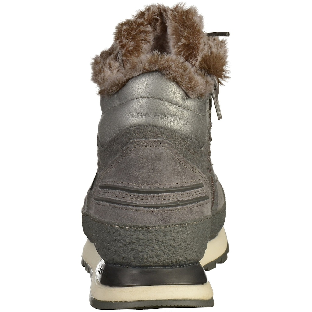 bugatti Schnürstiefelette »Veloursleder/Textil«