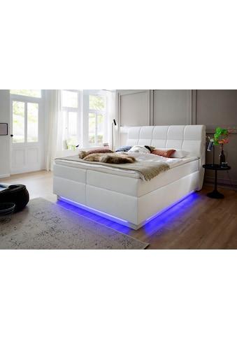 meise.möbel Boxspringbett, mit LED-Beleuchtung, USB-Anschlüsse und Topper kaufen