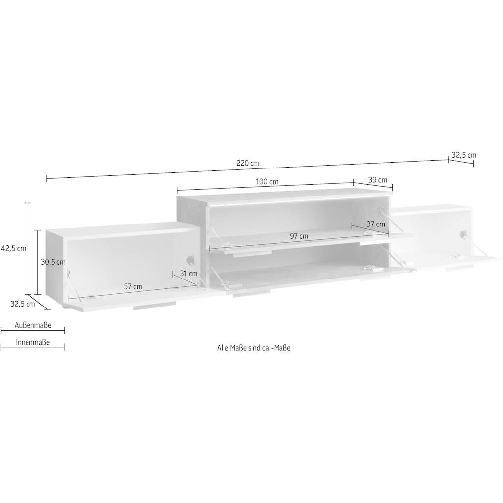 INOSIGN Lowboard »URBAN«, Breite 220 cm