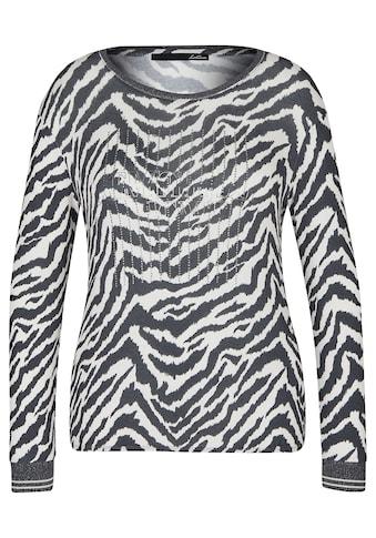 LeComte Shirt mit Glitzersteinen und Animalprint kaufen