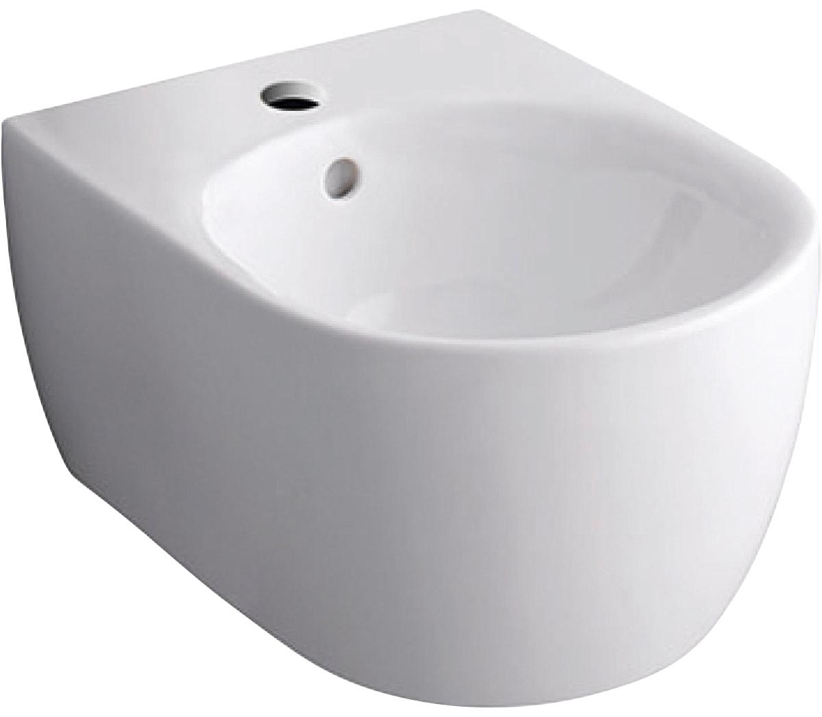 GEBERIT Bidet iCon, mit Überlauf, KeraTect weiß Bidets Bad Sanitär