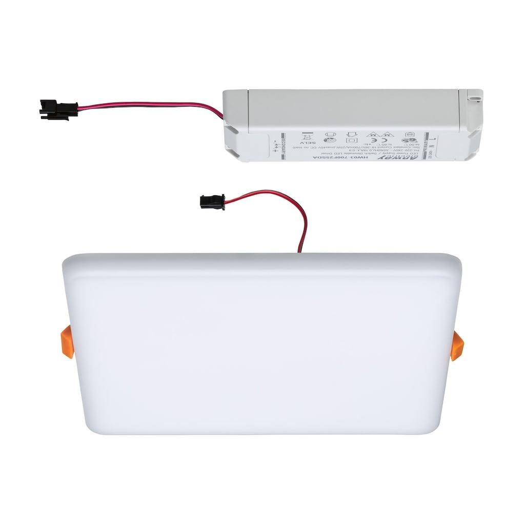 Paulmann,LED Einbauleuchte»Panel Veluna VariFit IP44 3-Stufen-dimmbar eckig 185x185mm 17W 3.000K Satin«,