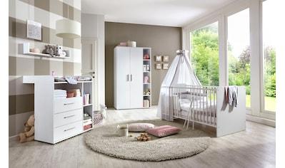 BMG Babyzimmer-Komplettset »Luis«, (Set, 4 St.), Bett + Wickelkommode + 2-trg. Schrank... kaufen